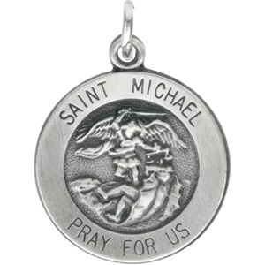 Sterling Silver 14.5mm St. Michael Medal