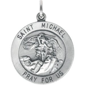 Sterling Silver 22mm St. Michael Medal