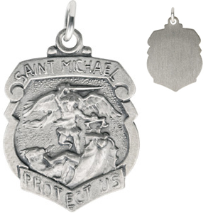 St. Michael Medal 18mm - Sterling Silver