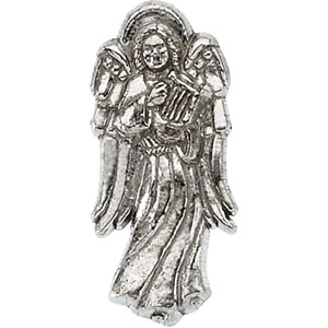 14KW Gold Angel Lapel Pin 19x9mm