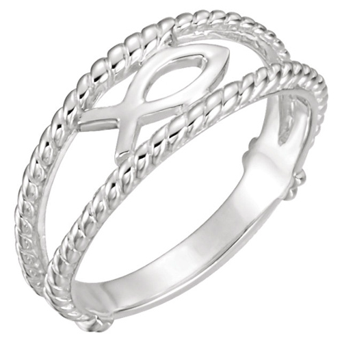 Sterling Silver Fish Chastity Ring