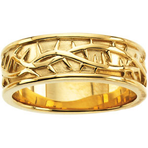 14kt Yellow Gold Ladies' Crown of Thorns Wedding Band
