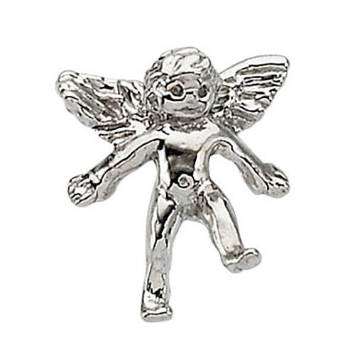 14KW Gold Angel Lapel Pin 11x10mm