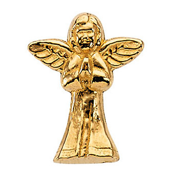 14KY Gold Angel Lapel Pin 16x13mm