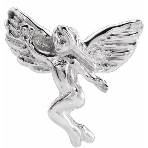 14KW Gold Dancing Angel Lapel Pin 12x13mm