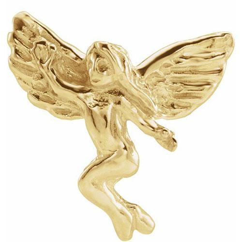 14KY Gold Dancing Angel Lapel Pin 12x13mm