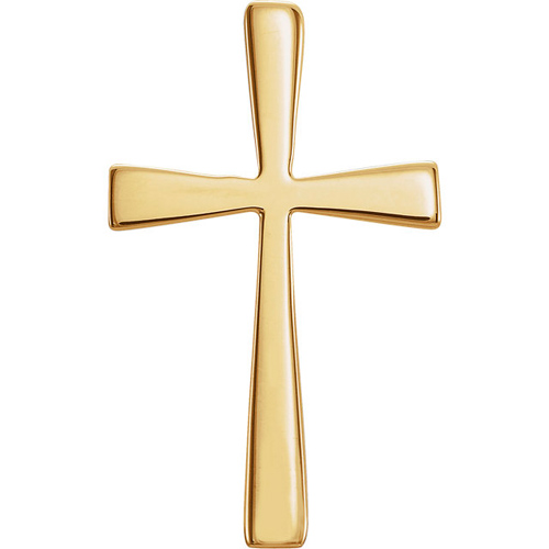 14kt Yellow Gold 3/4in Crusader Cross
