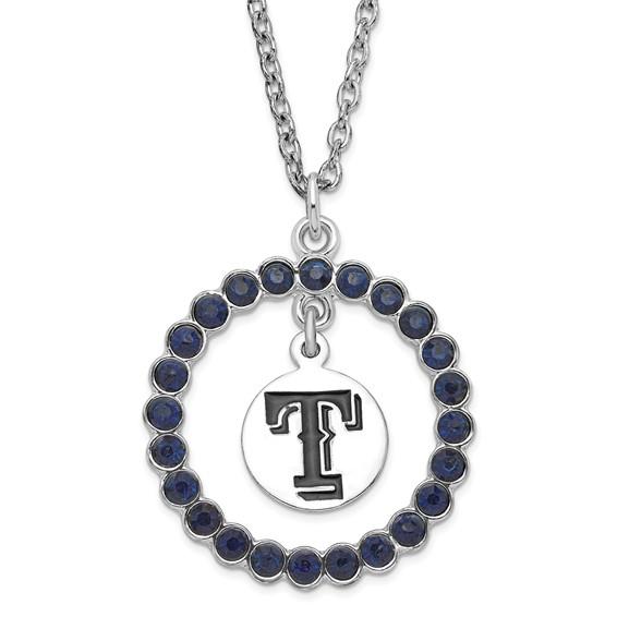 Silver-tone 18in Texas Rangers Spirit Necklace