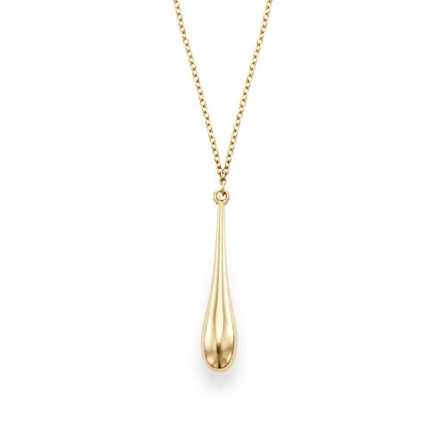 14k Yellow Gold Classic Tear Drop Necklace