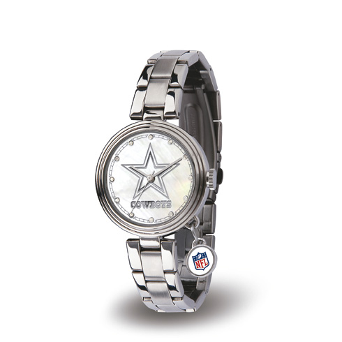 Stainless Steel Dallas Cowboys Charm Watch