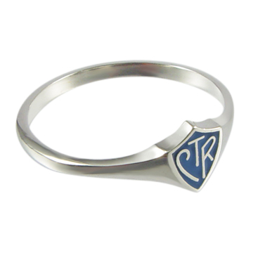 Blue Mini CTR Ring - Sterling Silver
