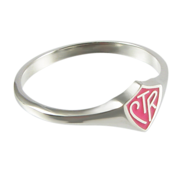 Pink Mini CTR Ring - Sterling Silver