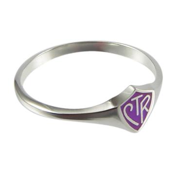 Purple Mini CTR Ring - Sterling Silver