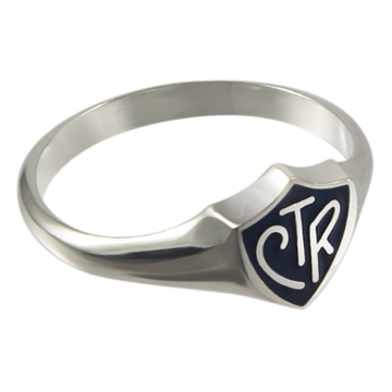 Black Classic CTR Ring - Sterling Silver