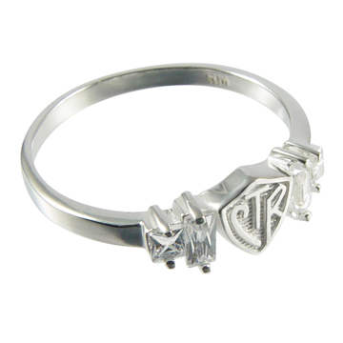 Baguette CTR Ring - Sterling Silver