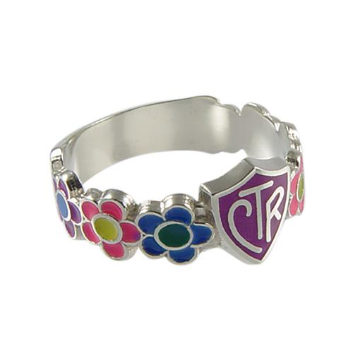 Flower Petals CTR Ring - Sterling Silver