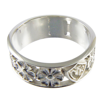April Flowers CTR Ring - Sterling Silver