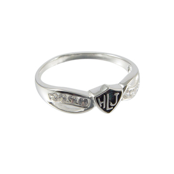 Spanish Bow Antiqued Ring - Sterling Silver