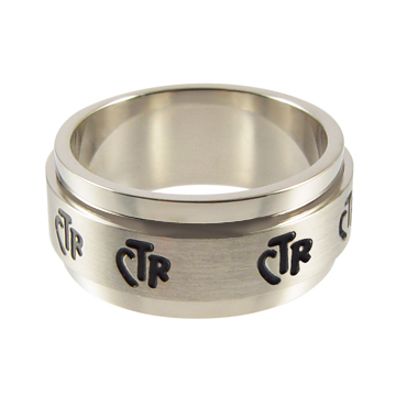 Spinner Wide CTR Ring 9mm - Stainless Steel
