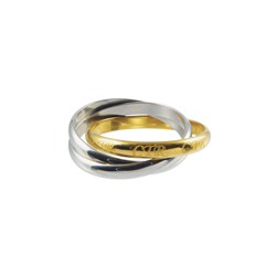 Roll Two Tone CTR Ring - Stainless Steel