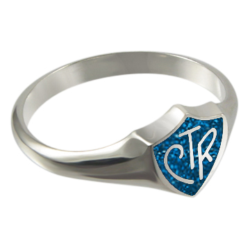 Blue Sparkle CTR Ring - Sterling Silver