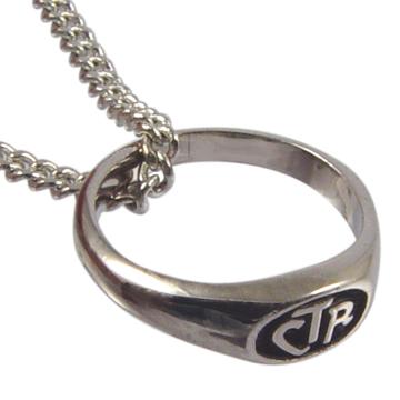 Micro Mini CTR Necklace - Sterling Silver