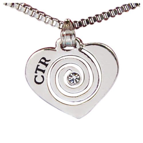 CTR Heart CZ Necklace