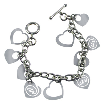 Mixed Metal CTR Heart Bracelet