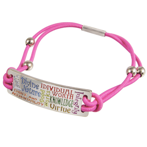 Young Women Values Bungee Bracelet