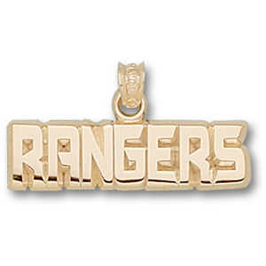 New York Rangers 1/4in 10k Pendant