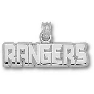 New York Rangers 11/16in Sterling Silver Pendant