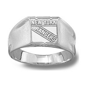 New York Rangers Ladies' Ring - Sterling Silver