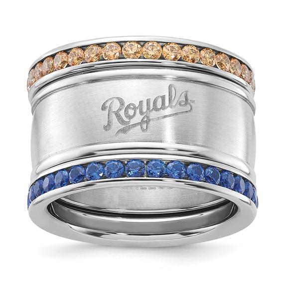 Kansas City Royals Crystal Stacked Ring Set
