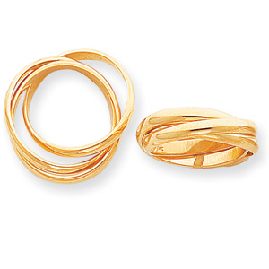 14kt Yellow Gold Polished Hollow Rolling Rings