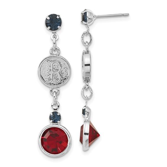 Boston Red Sox Crystal Logo Earrings
