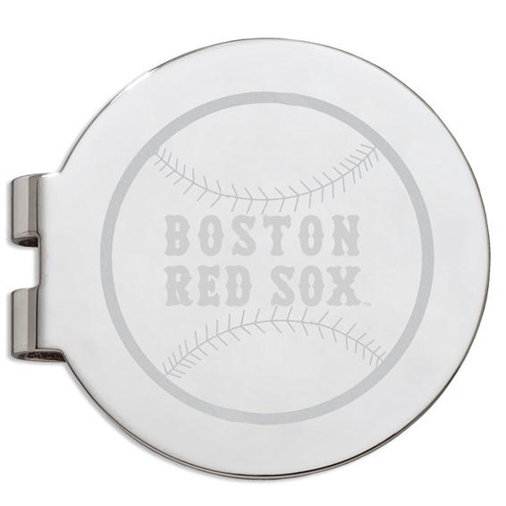Boston Red Sox Laser Engraved Money Clip
