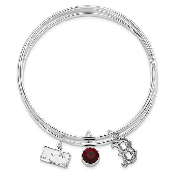 Boston Red Sox Triple Bangle Bracelet Set