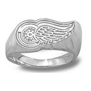 Sterling Silver Detroit Red Wings Ladies' Ring