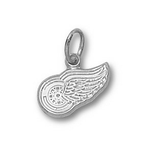 Detroit Red Wings 1/4in Sterling Silver Charm