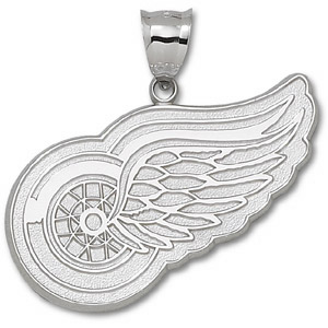 Detroit Red Wings Giant Sterling Silver Pendant