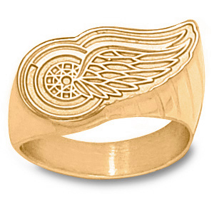 14kt Yellow Gold Detroit Red Wings Men's Ring