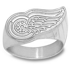 Sterling Silver Detroit Red Wings Men's Ring