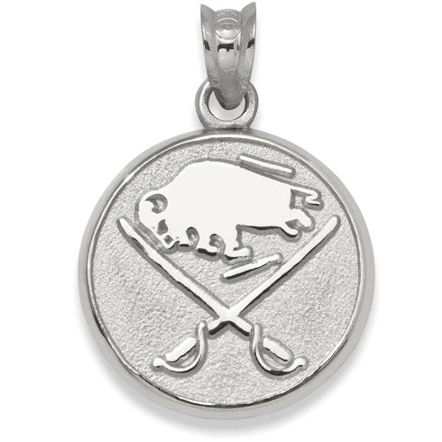 Buffalo Sabres 3/8in Logo Pendant Sterling Silver