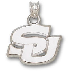 Sterling Silver 1/2in Southern University SU Pendant