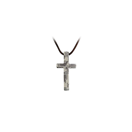 Stainless Steel Soldier's Cross Camo Army ABU Necklace