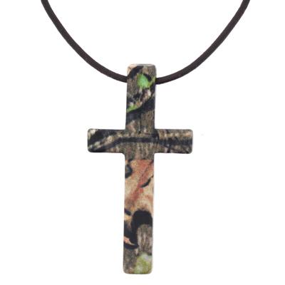 Mossy Oak Camo Hunter's Cross Necklace