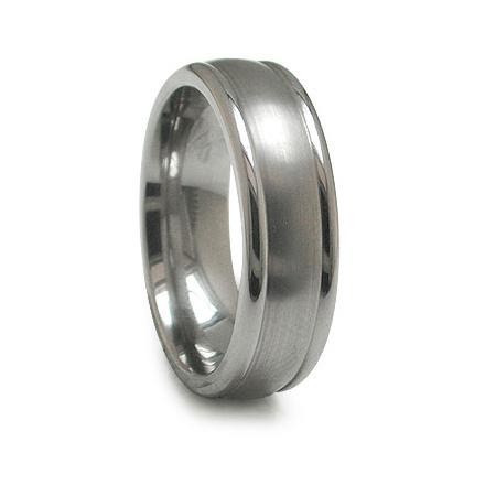 Edward Mirell 7mm Titanium Ring with Brushed Center