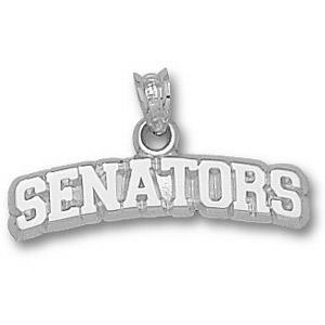 Ottawa Senators 1/4in Sterling Silver Pendant