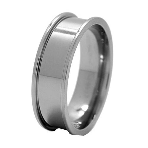Titanium 8mm Band with Raised Edges