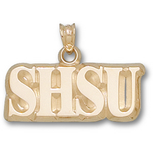 Sam Houston Bearkats 3/8in 14k Logo Pendant
